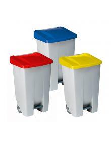 bidone per rifiuti codice colore completamente in plastica