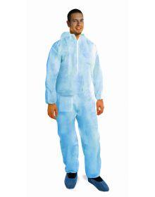 tuta monouso azzurra HACCP
