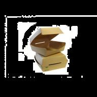 Contenitori compostabili per hamburger Bio-Nature 120x120 h70mm