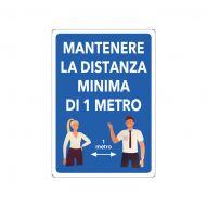 cartello mantenere distanza minima