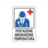cartello postazione misurazione temperatura