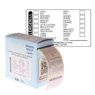 Etichette rimovibili per allergeni