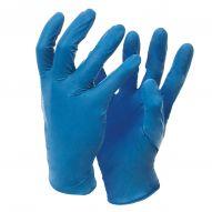 Guanti monouso in nitrile rilevabile blu